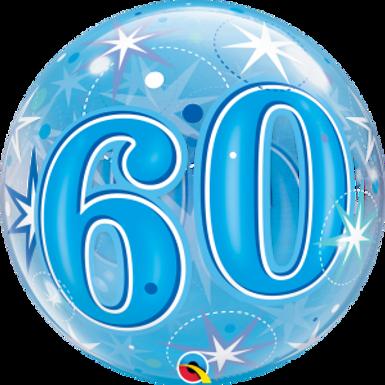 60 Blue Starburst Sparkle Bubble