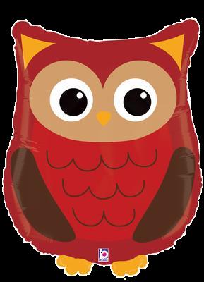 "Woodland Critters Owl 26""Foil Balloon"
