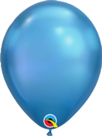 "Chrome Blue 11"" Latex Balloon"