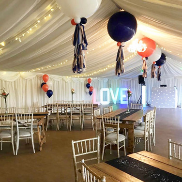 3ft Latex and latex balloon bouquets