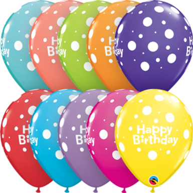 "Birthday Big Polka Dots 11"" Retail Pack"