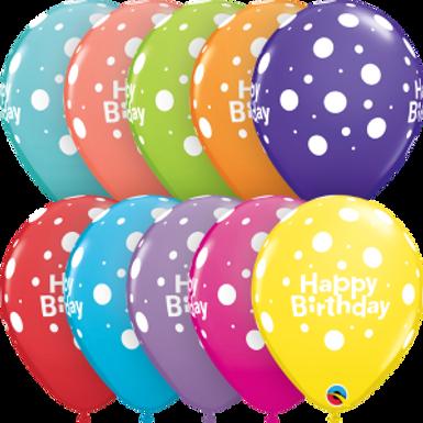 "Birthday Big Polka Dots 11"" Retail Pack"