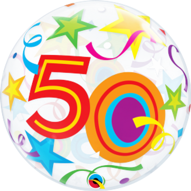 50 Brilliant Stars Bubble Balloon