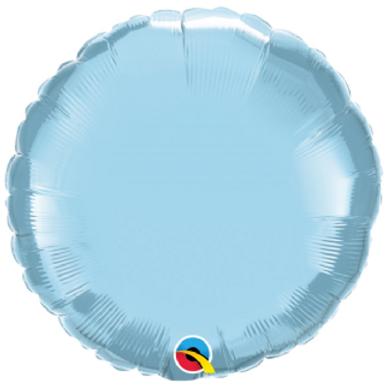 Light Blue 18 inch Circle Foil Balloon