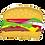 "Thumbnail: Hamburger 28"" Foil Balloon"