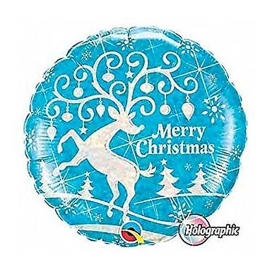Merry Christmas 18 inch Reindeer Balloon