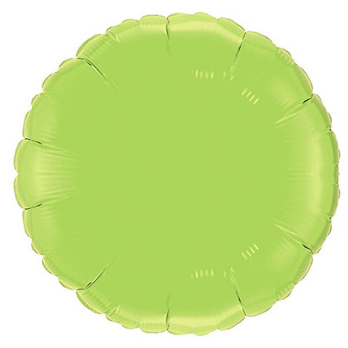 Lime Green 18 inch Circle Foil Balloon