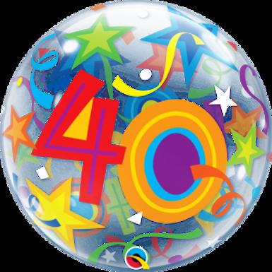 40 Brilliant Stars Bubble Balloon