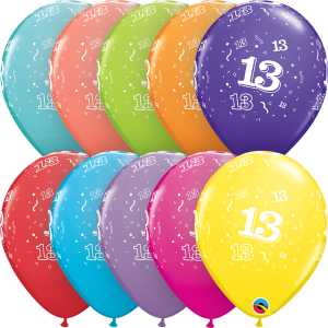 """13-A-Round 11"""" Latex Retail Pack"""