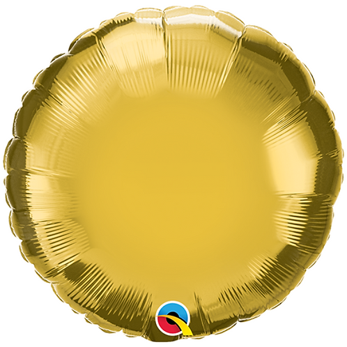 Gold 18 inch Circle Foil Balloon