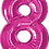 """Thumbnail: Pink 34"""" Foil Number 8 Balloon Helium Filled"""