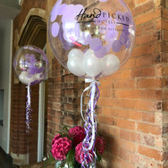 Hand Picked Hotels Gumball and Confetti Bubble Balloon