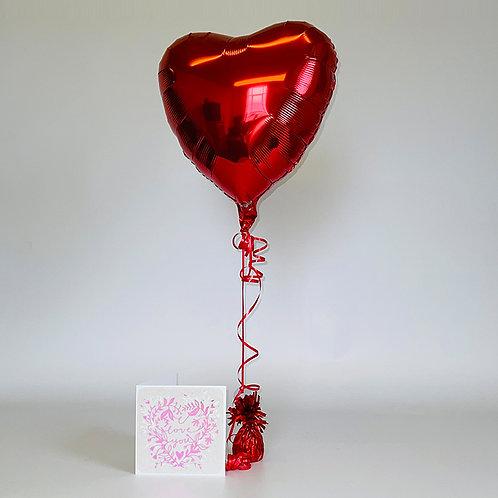 """""""I Love You"""" Card & Balloon Combo"""