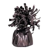 Black Tinsel Bomb Balloon Weight