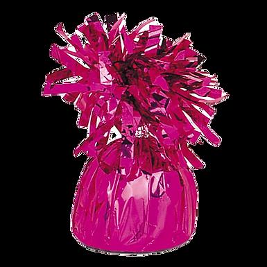 Dark Pink Tinsel Bomb Balloon Weight