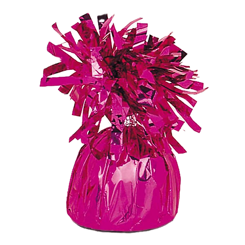 Dark Pink Tinsel Bomb Balloon Weight