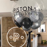 Black and Silver Gumball Bubble Balloon