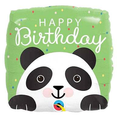 Happy Birthday Panda Foil Balloon