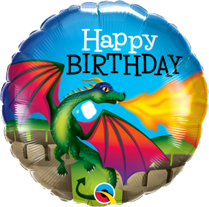 "Birthday Mythical Dragon 18"" Foil Balloon"