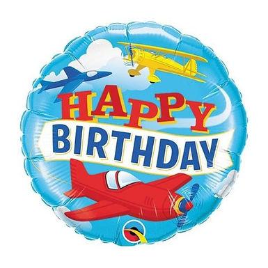 "Birthday Airplanes 18"" Foil Balloon"