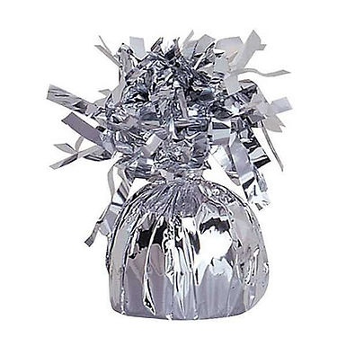 Silver Tinsel Bomb Balloon Weight