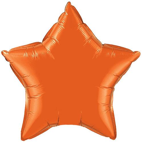 Orange 18 inch Star Foil Balloon