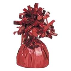 Red Tinsel Bomb Balloon Weight