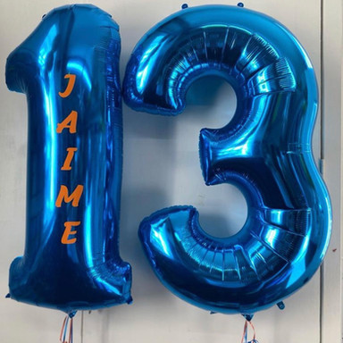 Personalised number balloons