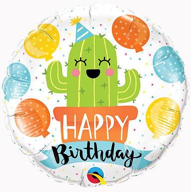 Happy Birthday Cactus Balloon