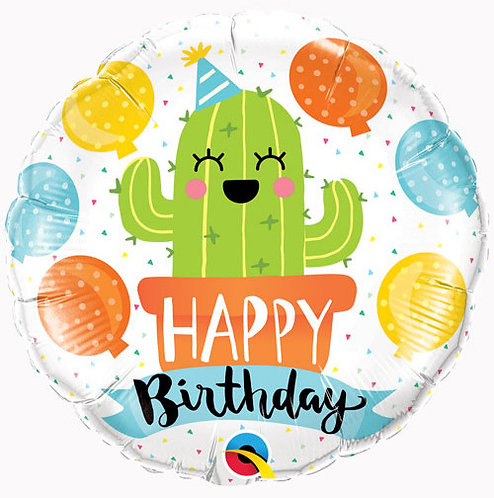 Happy Birthday Cactus Balloon