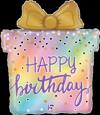 "Opal Birthday Present 27"" Foil Balloon"