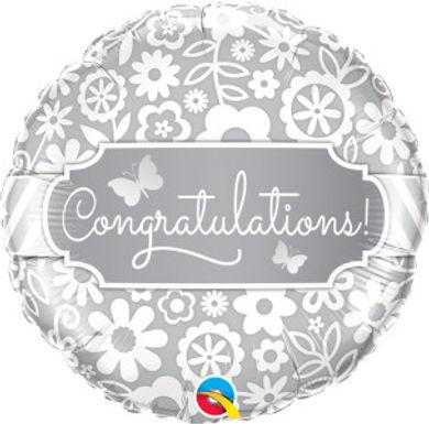 """Congratulations Butterflies 18"""" Foil Balloon"""