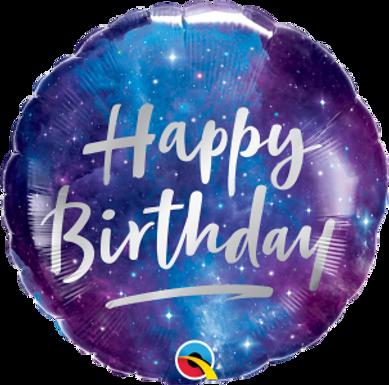 """18"""" Birthday Galaxy Foil Ballon"""