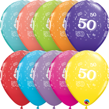 """50-A-Round 11"""" Latex Retail Pack"""