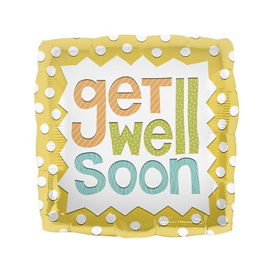 "18"" Foil Get Well Soon Balloon"