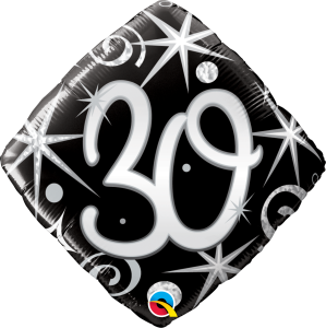 "30 Elegant Sparkles & Swirls 18"" Foil Balloon"