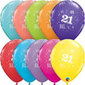 """21-A-Round 11"""" Latex Retail Pack"""