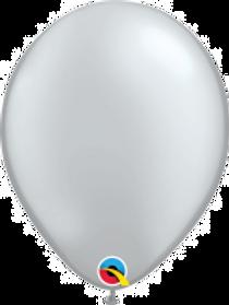 "Silver 11"" Latex Balloon"