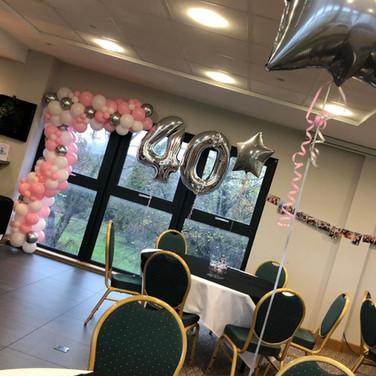 40th Birthday Balloon Decorations