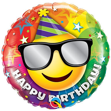 """Birthday Smiley 18"""" Foil Balloon"""