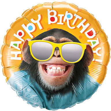 Happy Birthday Smiling Chimp Balloon