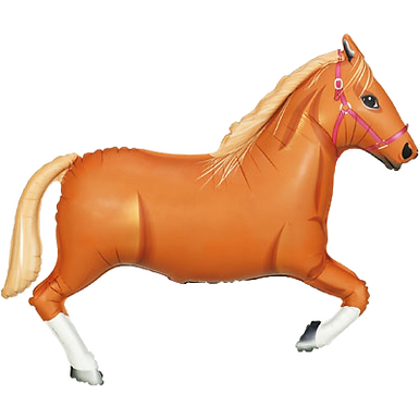 "Light Brown Horse 43"" Foil Balloon"