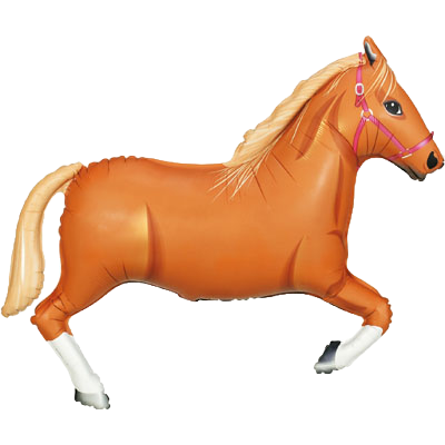 """Light Brown Horse 43"""" Foil Balloon"""