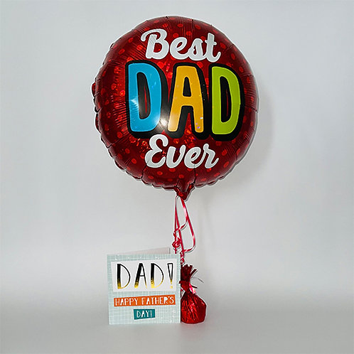 Dad Happy Fathers Day Card & Balloon Combo