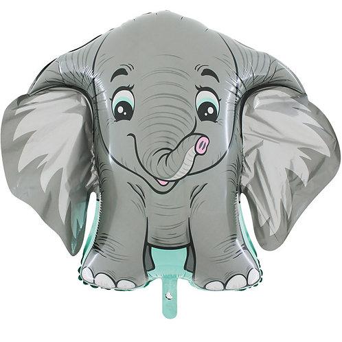Elephant Grey Shape Foil Balloon