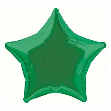 Dark Green 18 inch Star Foil Balloon