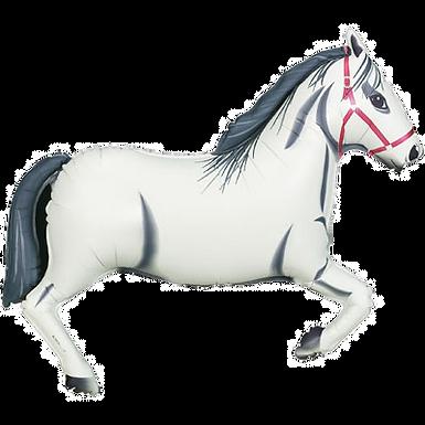 """White Horse 43"""" Foil Balloon"""