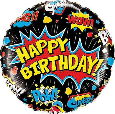 "18"" Foil Happy Birthday Superhero Balloon"