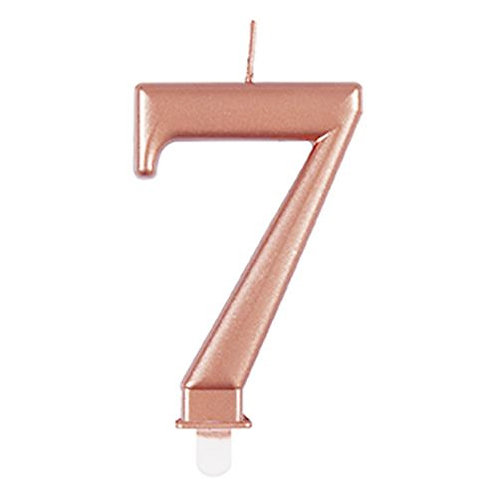 Rose Gold Number 7 Candle