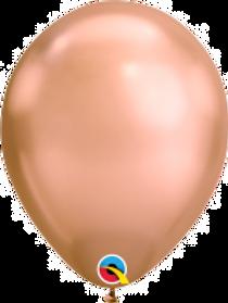 "Chrome Rose Gold 11"" Latex Balloon"